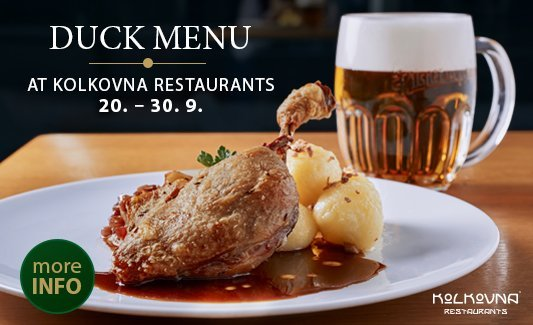 Duck menu in Kolkovna Restaurants