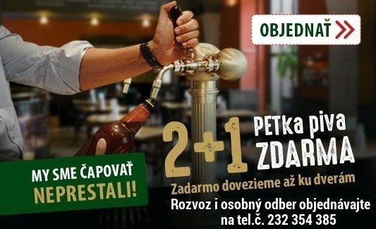 Pivo PET 2+1 zdarma RiverPark